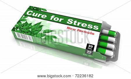 Cure for Stress - Pack of Pills.