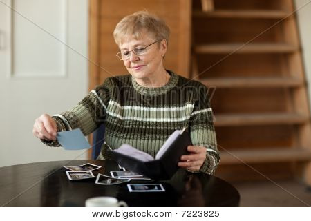 Senior Woman Looking Photo