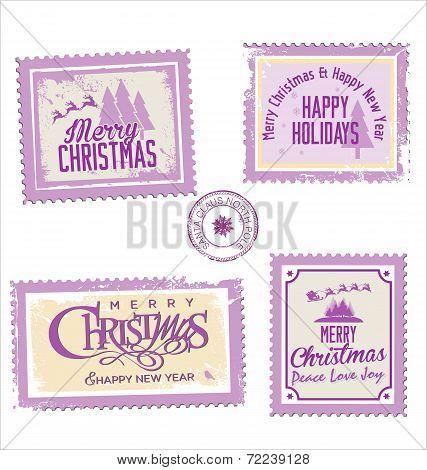 Christmas Post Stamp Collection.eps
