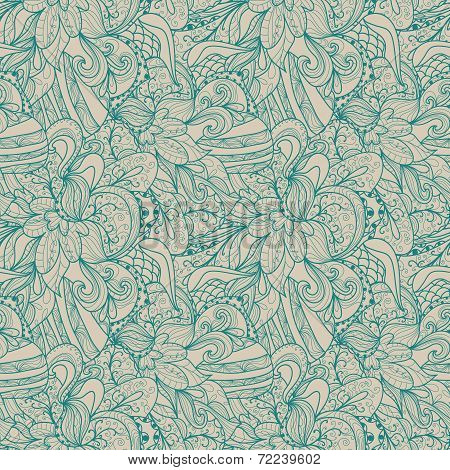 Abstract Seamless Hand-drawn Pattern.