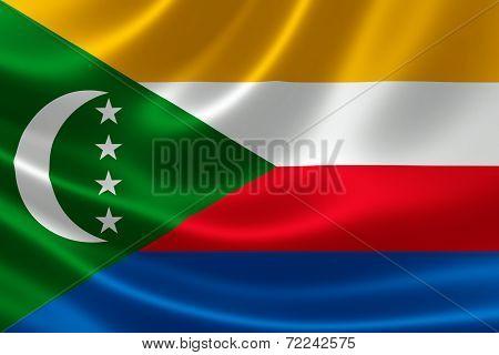 Close-up Of Comoros' Flag
