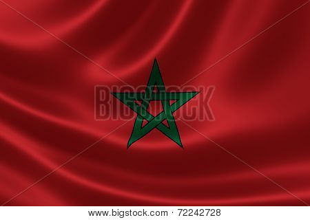 Close-up Of The Kingdom Of Morocco's Flag