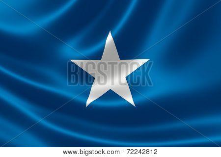 Close-up Of Somalia's Flag