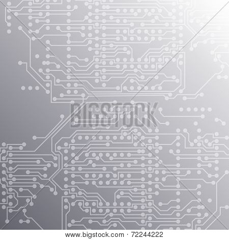 Microchip background, electronic circuit, EPS10 vector illustration