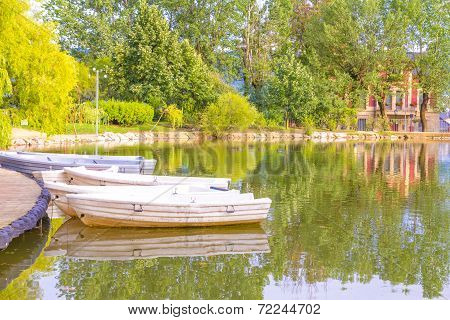 Boats In Puigcerda Pond