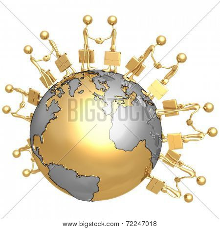 Global Business Deal Handshake