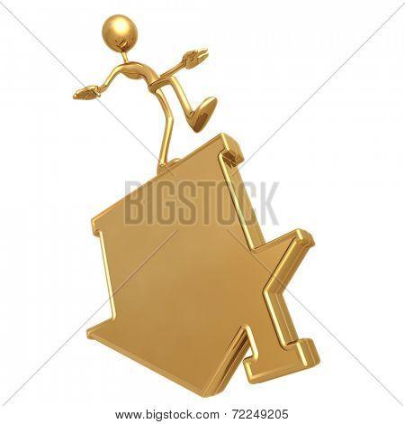 Balancing Flipped Home Symbol