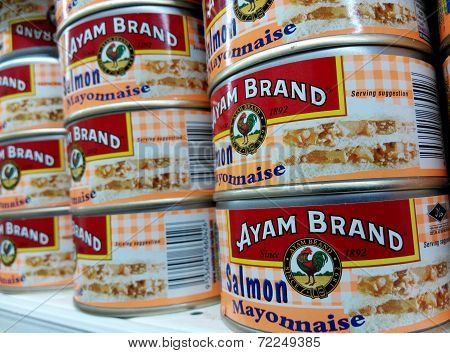 Ayam Brand Salmon Mayonnaise cans