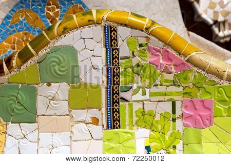 Ceramic Bench Park Guell - Barcelona Spain