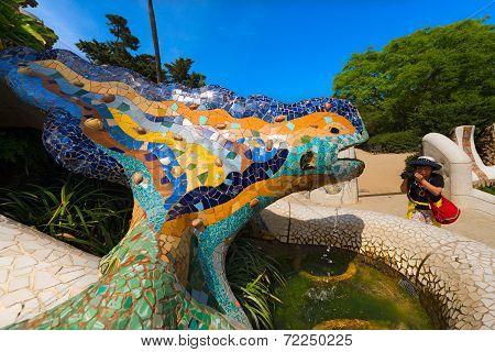 Mosaic Salamander - Park Guell - Barcelona