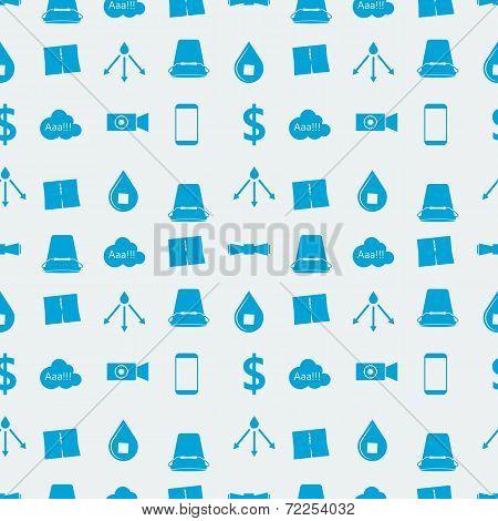 Monochrome blue vector background for Ice Bucket Challenge