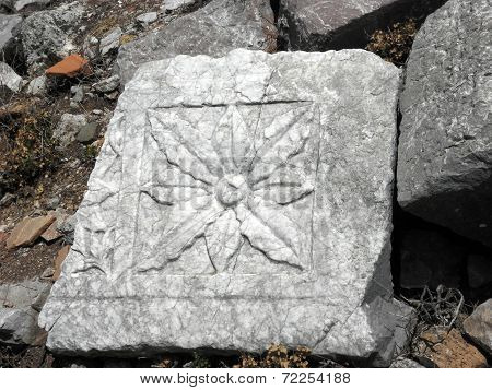 Ornament of a small temple in ancient Kadyanda.