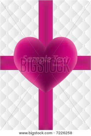 Heart and ribbon,vector