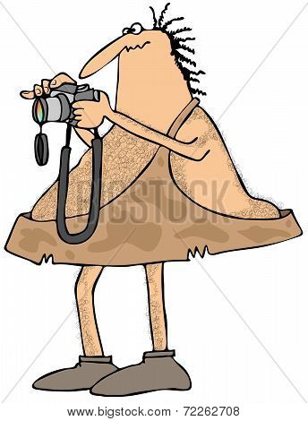 Caveman photographer