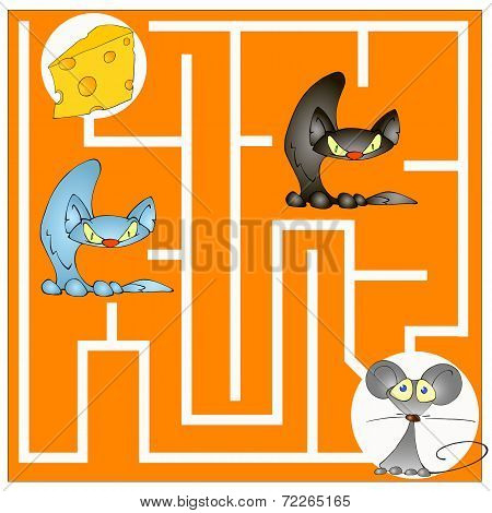 Maze Game About A Cat And Mouse