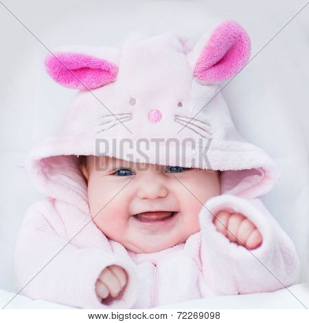 Little Baby Dressed As Bunny