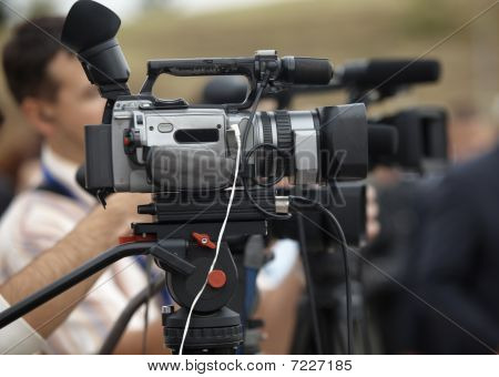 Business Conference Camera Journalism