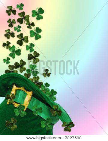St Patricks Day hat shamrocks