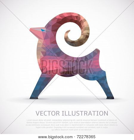 Colorful geometric shape of the Goat.