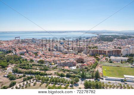 Aerial View Of Almada City