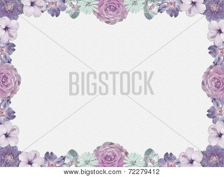 Lilac Flower Frame, Nostalgic Style