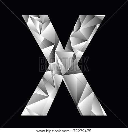 Crystal Letter  X