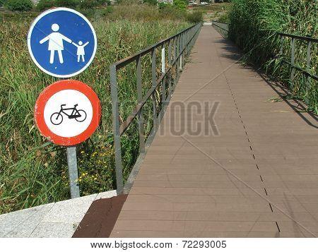 walkway over wetland