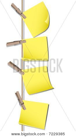 Memo notes with pegs