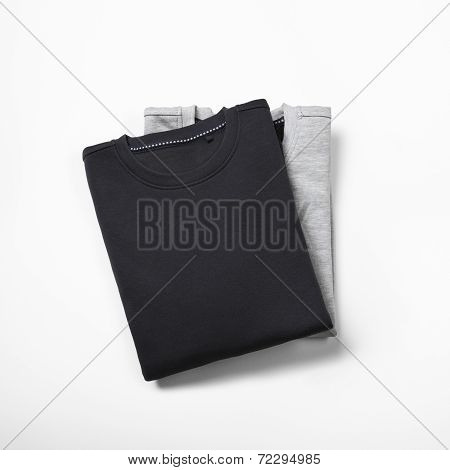 Two Blank Jumpers Isolated On White