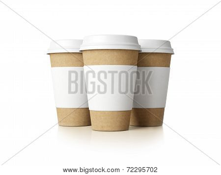 Paper Cups Isolated