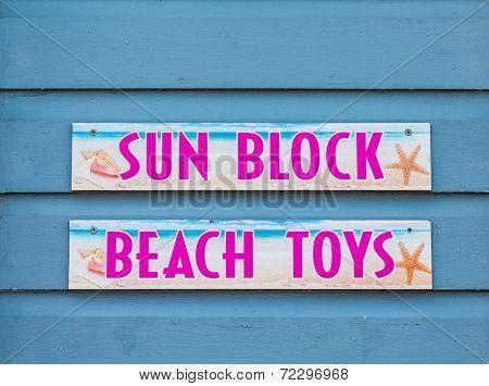 Sun Block And Beach Toys