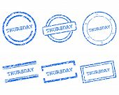 stock photo of thursday  - Detailed and accurate illustration of thursday stamps - JPG