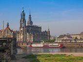 stock photo of trinity  - Dresden Cathedral of the Holy Trinity aka Hofkirche Kathedrale Sanctissimae Trinitatis in Dresden Germany - JPG