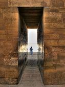 foto of mortuary  - Corridor entrance to the Djoser mortuary complex at Saqqara  - JPG