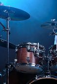 pic of drum-kit  - Drum kit isolated on dark background - JPG