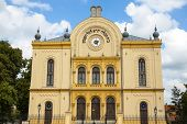 stock photo of synagogue  - The building of the old Jewish synagogue - JPG