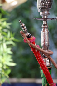 picture of shisha  - Close view of the waterpipe  - JPG