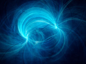 picture of neutron  - Blue electromagnetic field computer generated abstract background - JPG