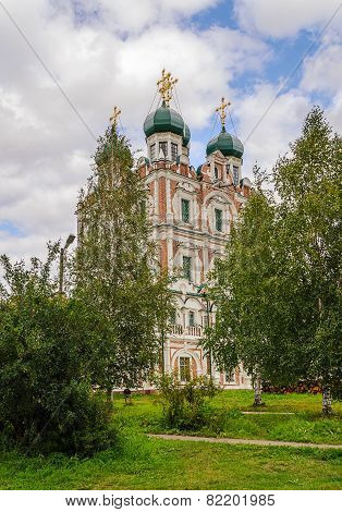 Vvedenskaya Church In Solvychegodsk Behind The Trees