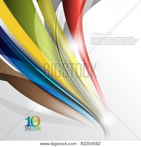 eps10 vector multicolored bent lines abstract background