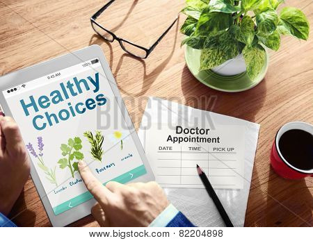Healthy Choices Herbal Medicine Healthcare and Medicine Concept
