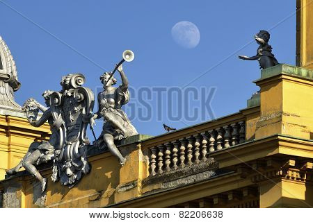 Croatian national theater in Zagreb, Croatia.