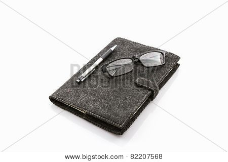 Black Fabric Case Book.