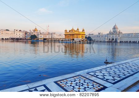 Golden Temple In The Early Morning. Amritsar. India