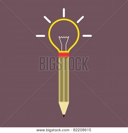Pencil Light Bulb.