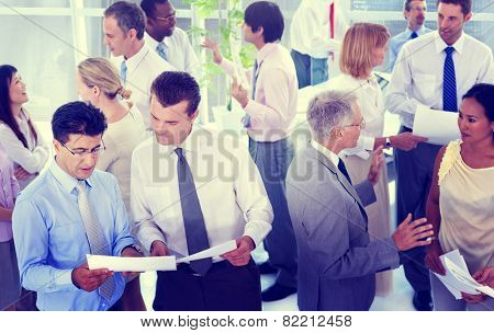 Business People Conversation Communication Talking Team Concept