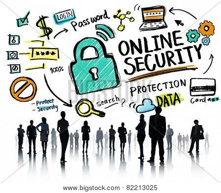 Online Security Protection Internet Safety Business People Concept