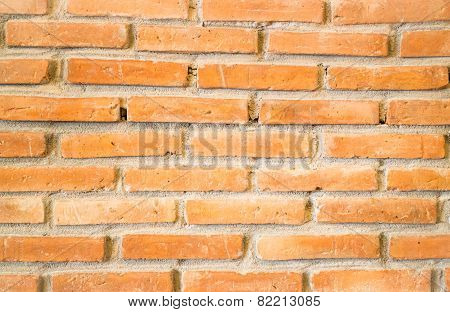 Wall Of Brick Texture Background