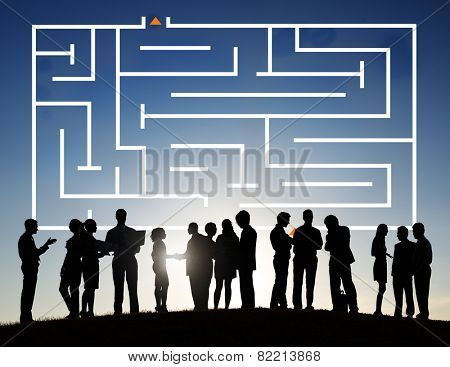 Maze Identity Marketing Data Encryption Concept