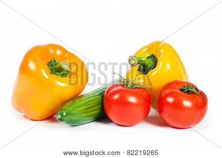 isolated vegetables on a white background